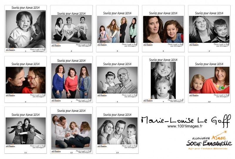 13 familles ont participé à Souriez pour Asmae © Marie-Louise Le Goff / www.1001images.fr